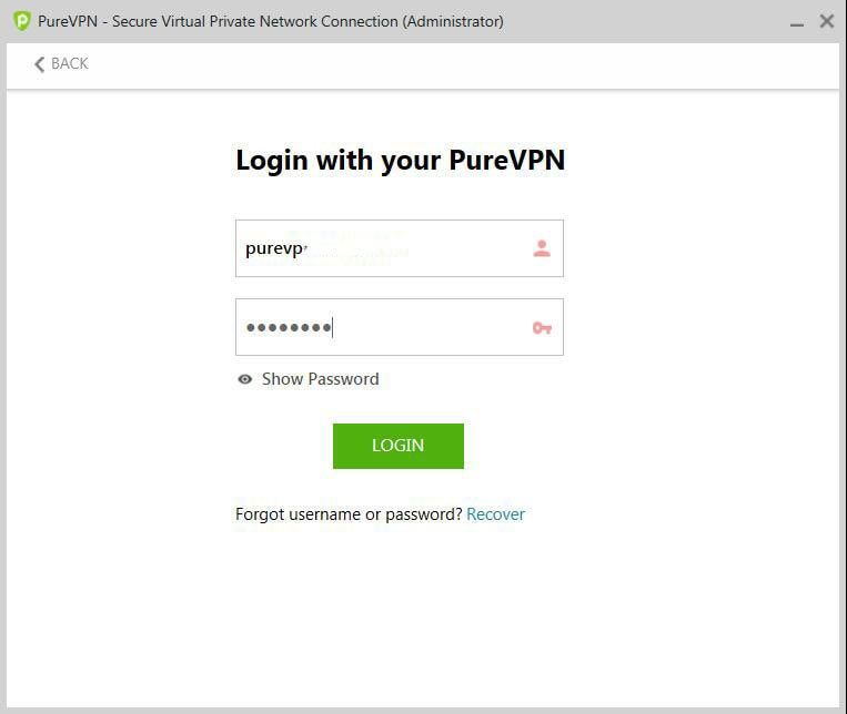 PurevPN登录
