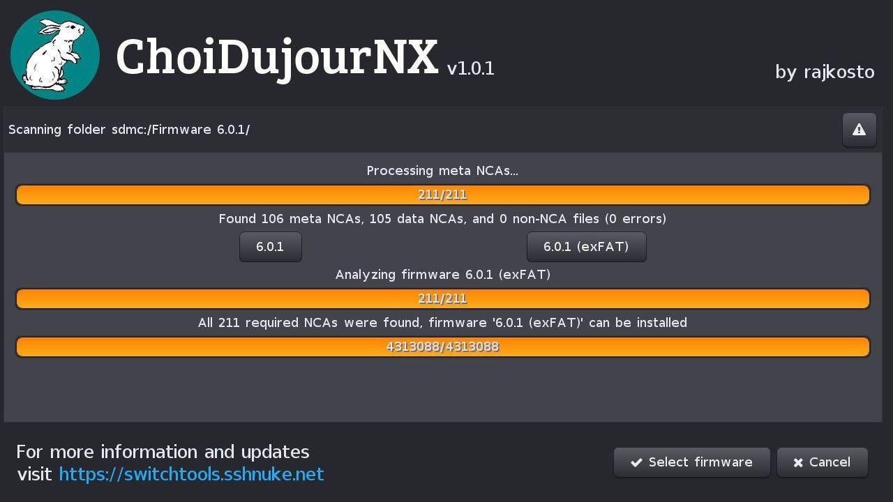 ChoiDujourNX-select-firmware