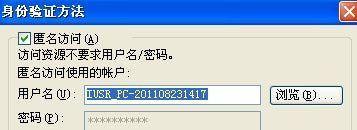 IIS的匿名用户